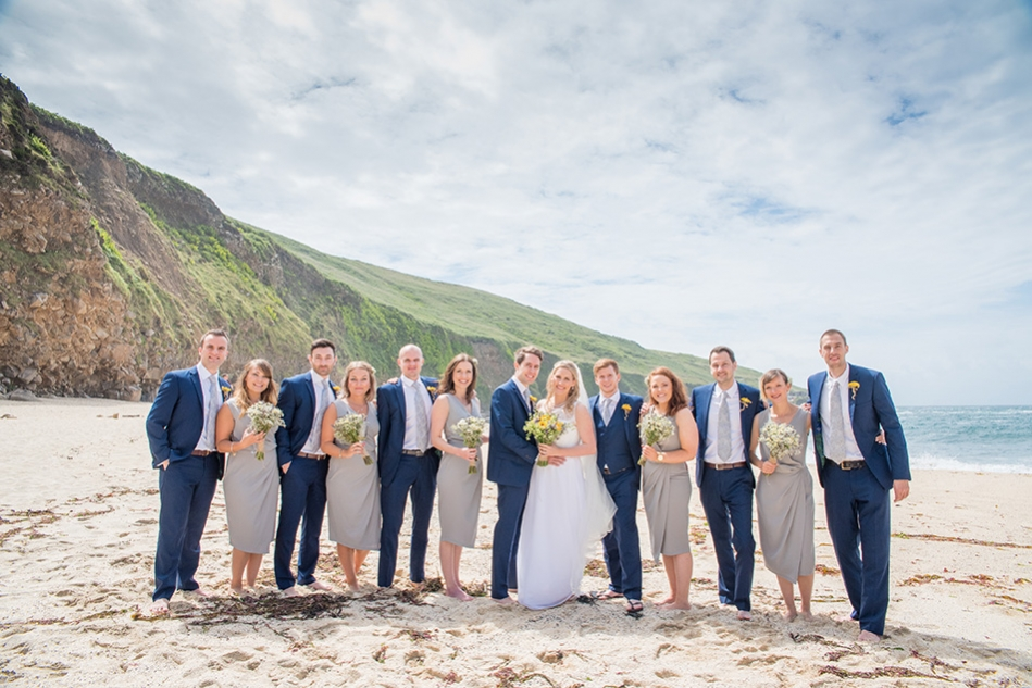 Cornish beach wedding, Cornwall