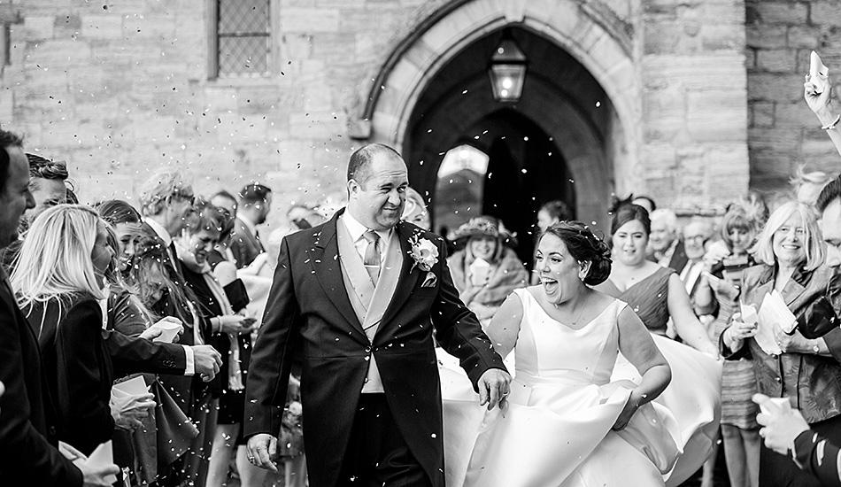 Confetti Wedding Exit_The Cole Portfolio_Fun Wedding Photography