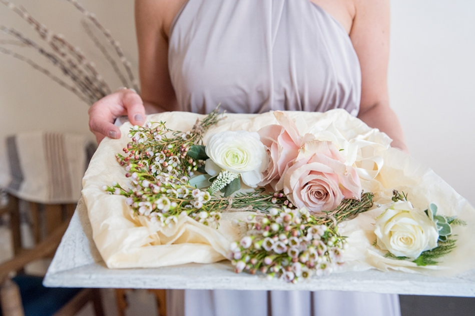 Delicate Wedding Corsages