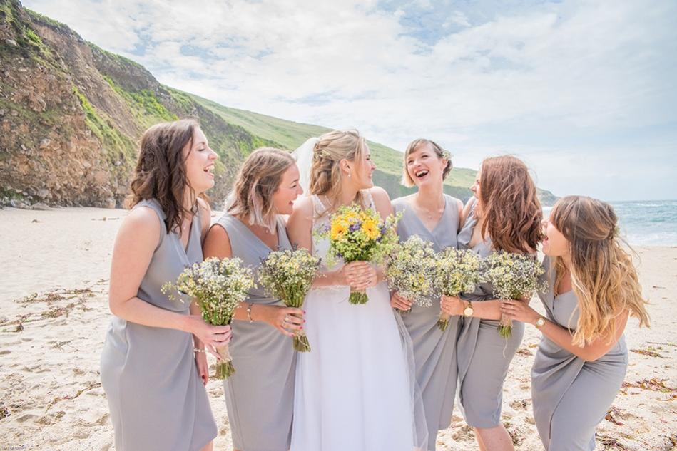 Cornish Beach Wedding, Chypraze Barn